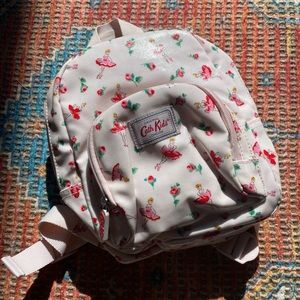 Pink Ballet print backpack with matching purse
